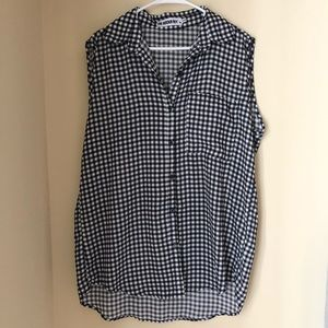 Oversized gingham top